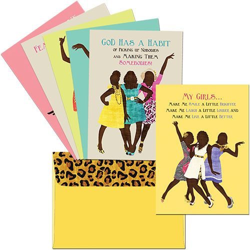 AOAB-680 Deluxe Greeting Cards with Matching Envelopes, by African American…