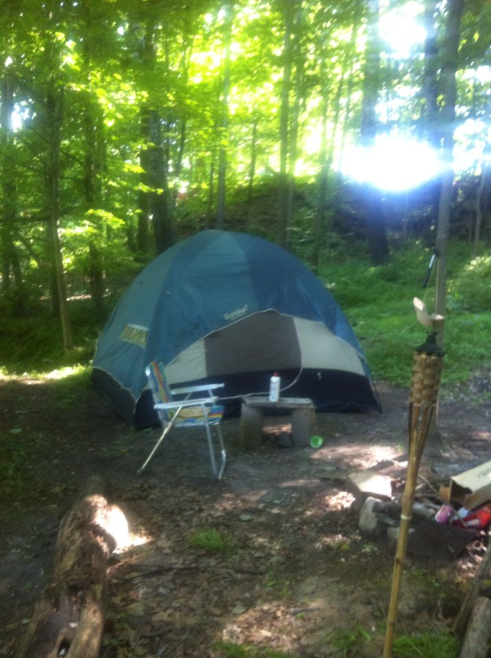 Camping in Schuyler Falls, NY 😊