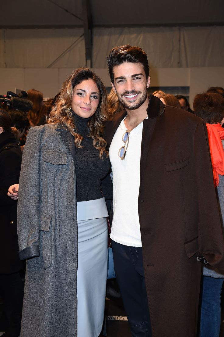 Mariano Di Vaio and his wife Eleonora Brunacci in a TRUSSARDI look at the TRUSSARDI Fall Winter 2016/17 Womenswear show #Trussardi