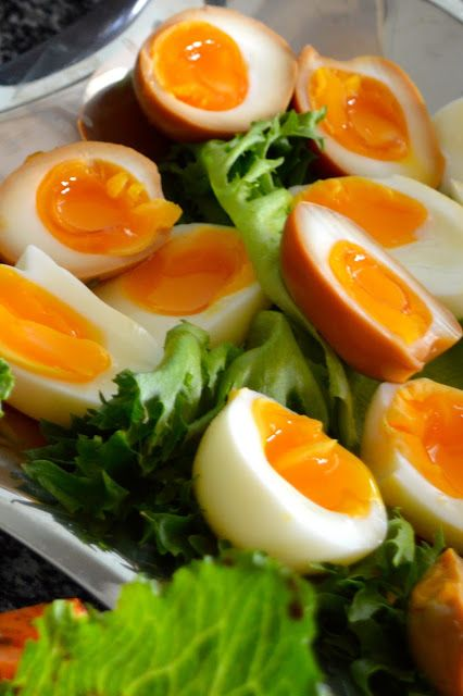 Viikonloppukokki: Soijamarinoituja kananmunia parilla tarjoiluehdotu...