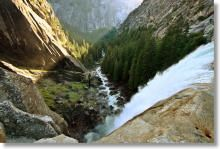 Mist Trail Hiking Map - Vernal and Nevada Falls and return