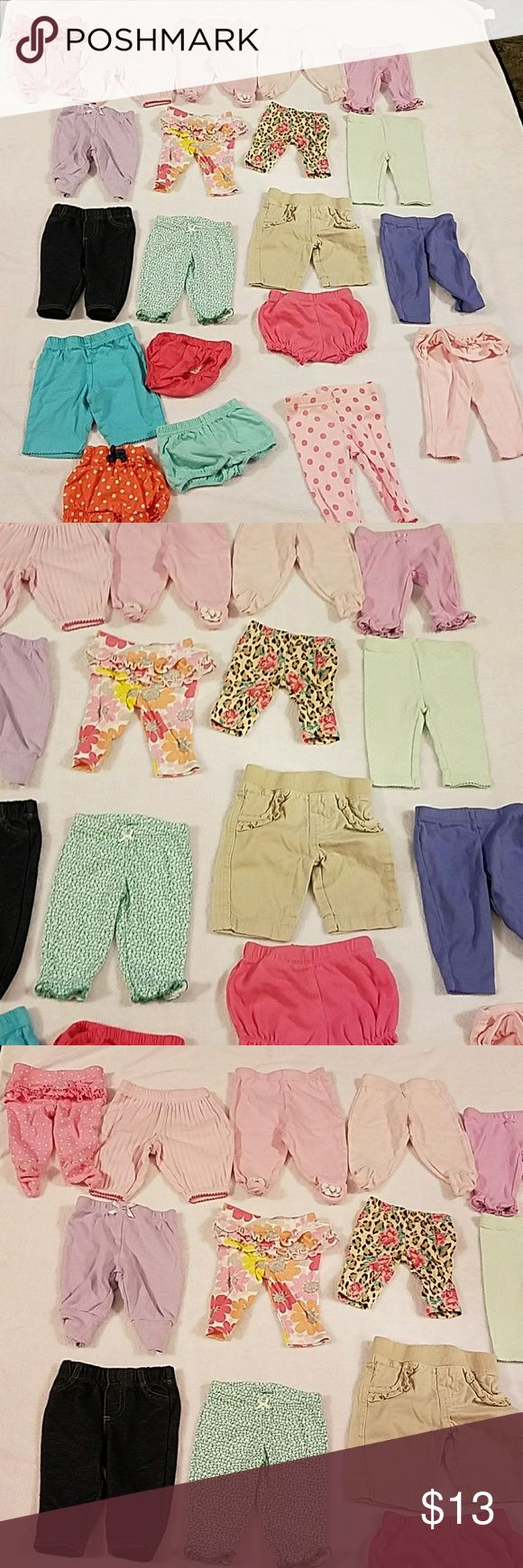 🎀NB Baby girl bottoms 20 Pieces. Newborn baby girl bottoms. From pants, shorts etc. Bottoms