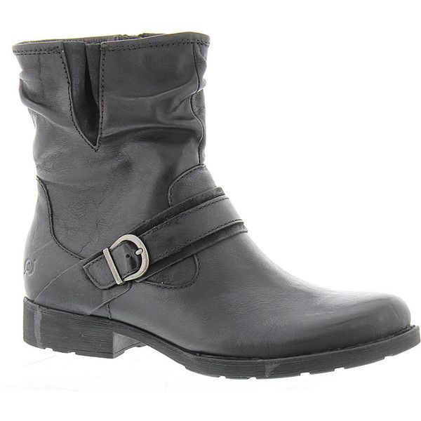 Born Virgo Women's Black Boot 6.5 M ($115) ❤ liked on Polyvore featuring shoes, boots, black, distressed black leather boots, black low heel shoes, low heel boots, born boots and low heel shoes