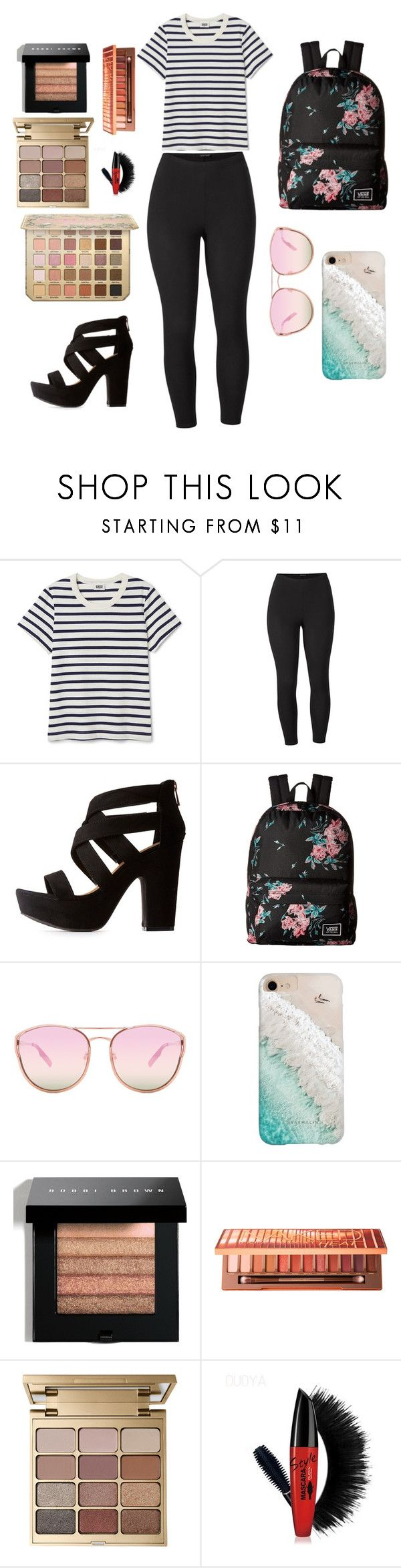 """""""Casual day"""" by vaca77 ❤ liked on Polyvore featuring Venus, Bamboo, Vans, Quay, Gray Malin, Bobbi Brown Cosmetics, Urban Decay, Stila and plus size clothing"""