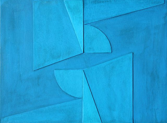 Hard-edge Painting #11 by Gary Andrew Clarke