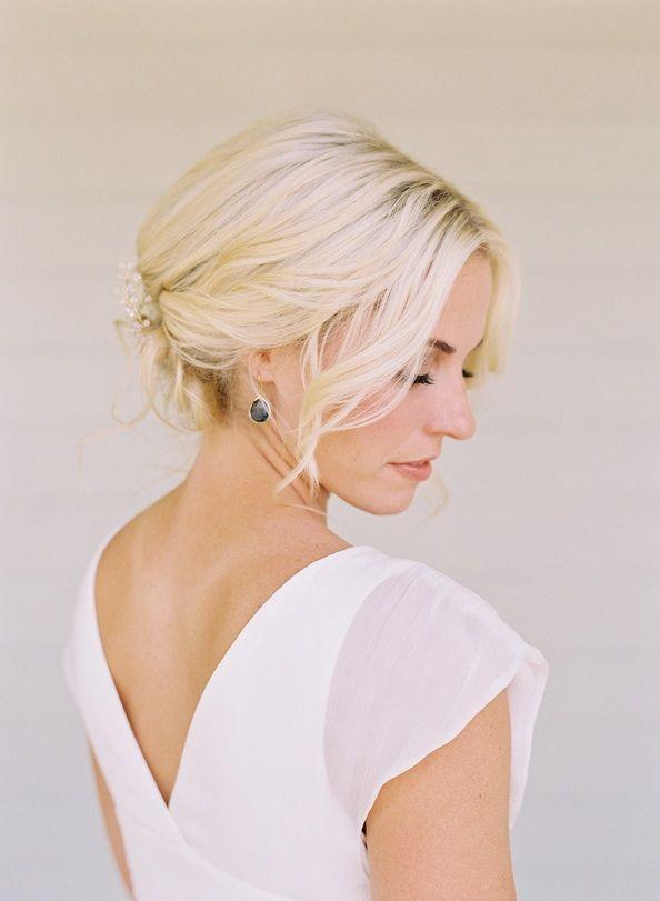 bright elegant bride wedding hairstyles jewelry for short hair