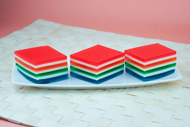 Layered jell-o looks so cool!