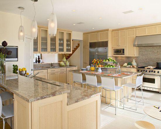 Enchanting Kashmir Gold Granite Ideas : Adorable Beach Style Kitchen With  Kashmir Gold Granite Countertops For