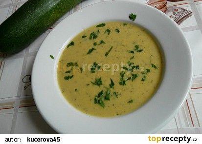 Cuketová polévka se zázvorem a citronem recept - TopRecepty.cz