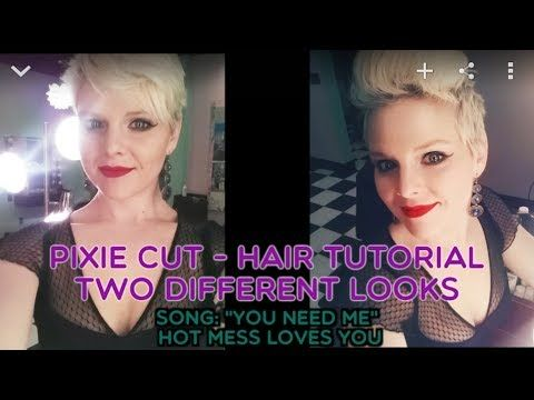 pixie hair styling tutorial two different looks \ great edgy pixie cut