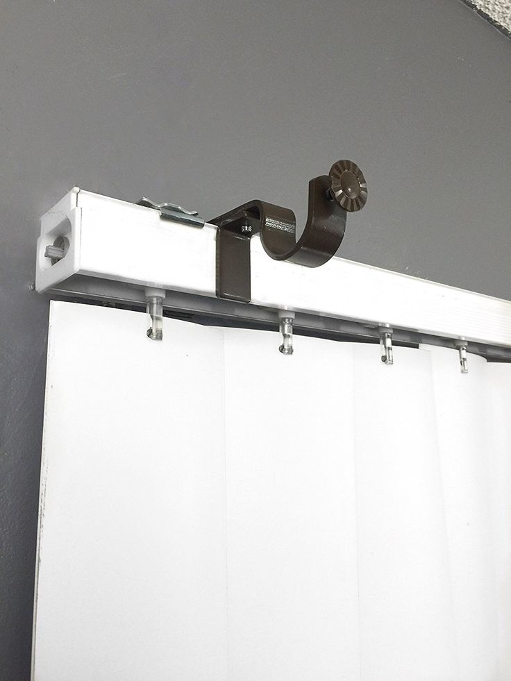 NoNo Bracket Curtain Rod Bracket Attachment For Outside Mount Vertical Blinds Entrance In