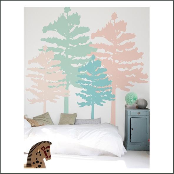 Mural de rboles de colores coccolihome murales y - Vinilos de arboles ...