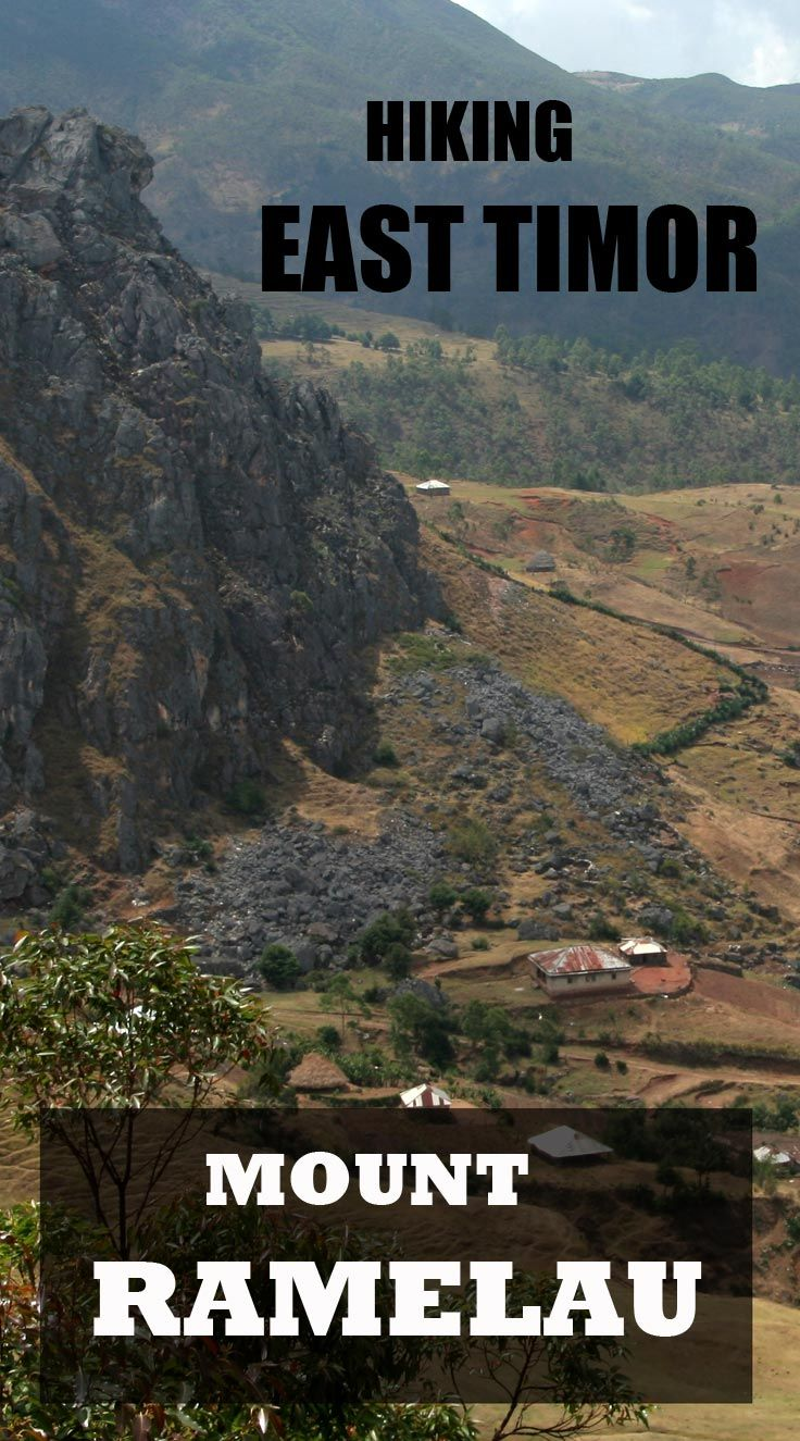 Hiking Mount Ramelau in East Timor. Discover beautiful landscapes, traditional villages and amazing people.