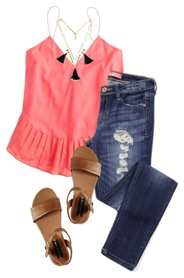 """""""Hope you've had a Wonderful Day... ✨"""" by sc-prep-girl ❤ liked on Polyvore featuring J.Crew and Steve Madden"""