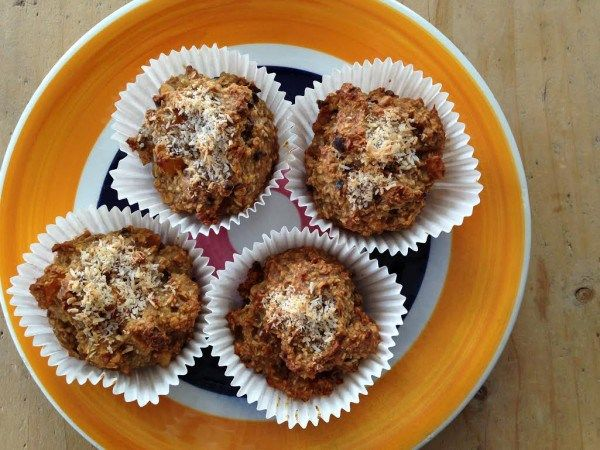 Havermout muffins met abrikoos.