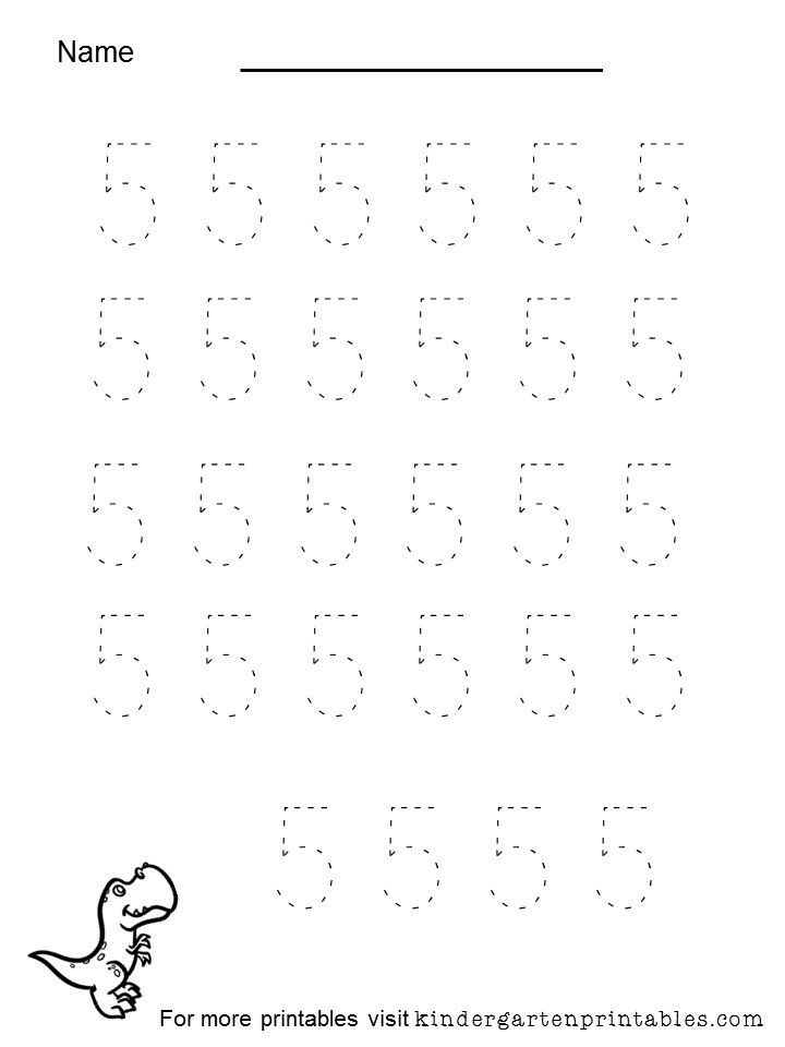 tracing number 5 worksheet Tracing number 5 worksheet