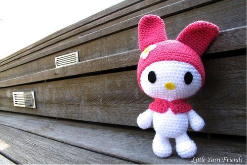 bunny free crochet pattern by Little Yarn Friends