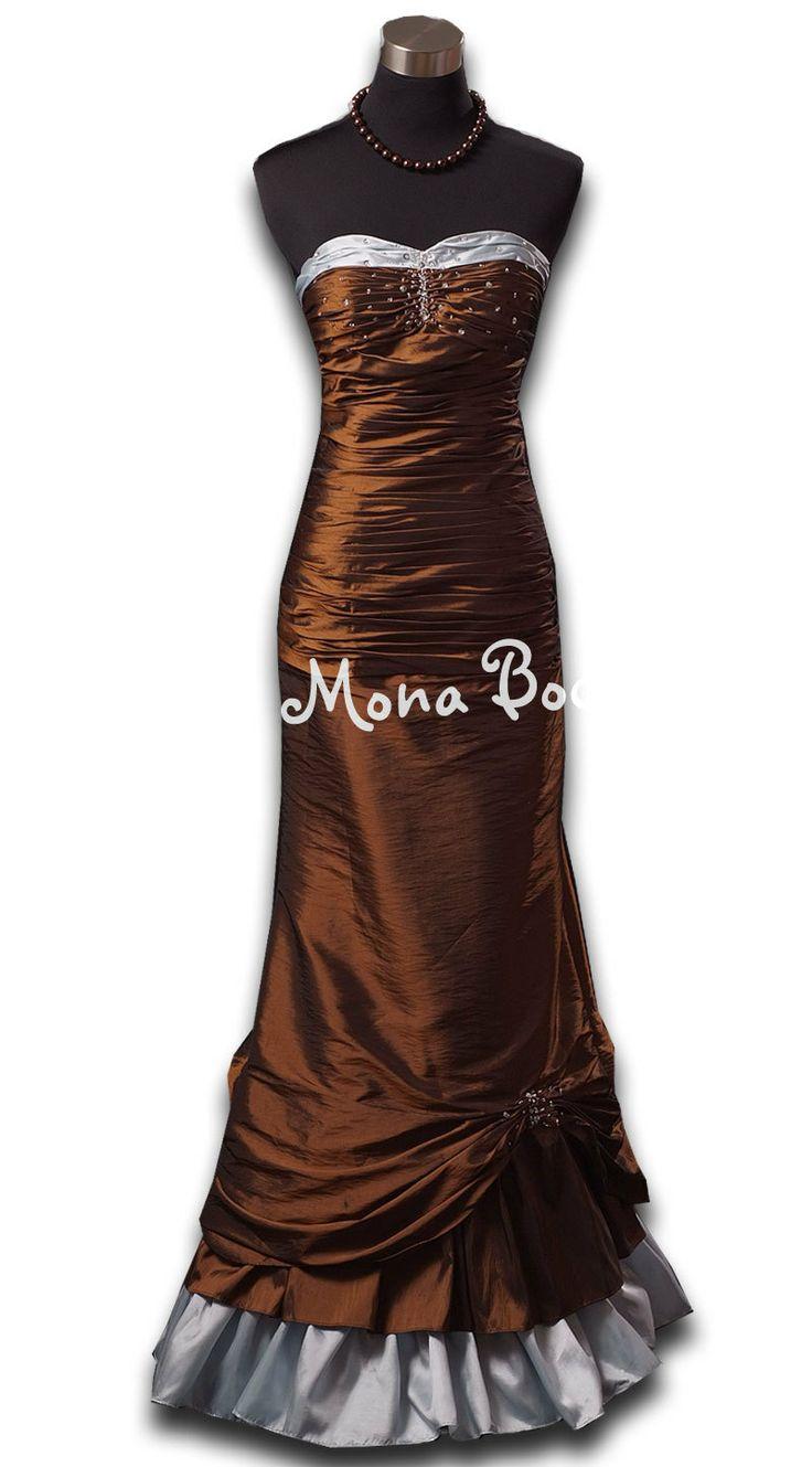 Victorian chocolate evening prom dress Edwardian ball by MonaBocca, $240.00
