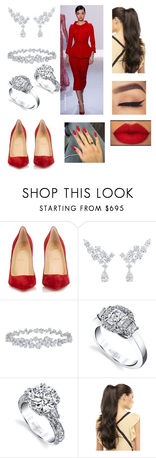 """Untitled #3500"" by vanessa898 ❤ liked on Polyvore featuring RALPH, Christian Louboutin, Harry Winston and Harry Kotlar"