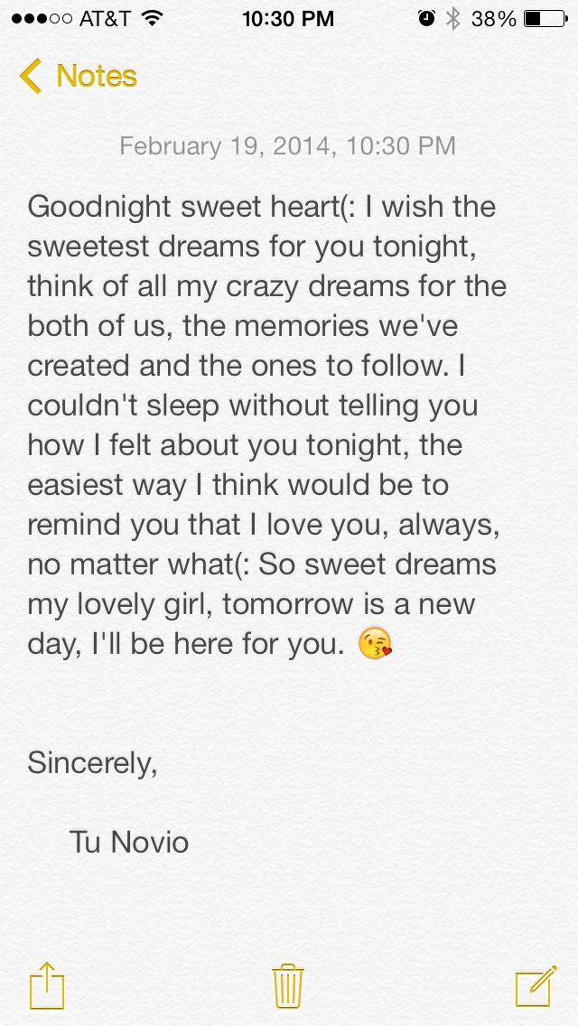 Goodnight text (: