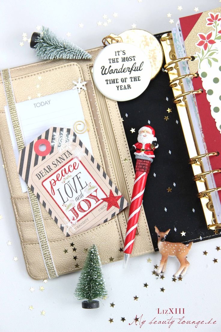 Santa gift tag DIY as a planner decoration for Christmas in my Filofax_Kikki.K_Erin_Condren | LizXIII.com