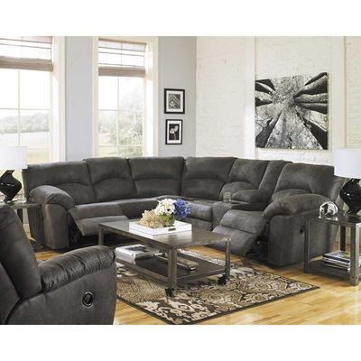 Show details for 2PC Pewter Reclining Sectional
