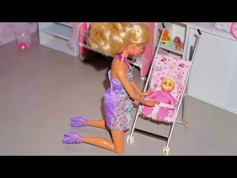 How to make a baby stroller for doll (Monster High, Barbie, etc) - YouTube