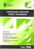 Wydawnictwo Naukowe Scholar :: :: 2015 ZARZĄDZANIE PUBLICZNE nr 2 (32) Uwaga! Do kupienia także w PDFie