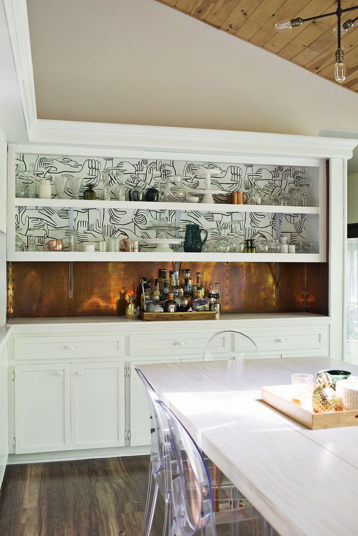 best 25 wallpaper shelves ideas on pinterest diy bedroom decor copper backsplash and wallpaper shelves