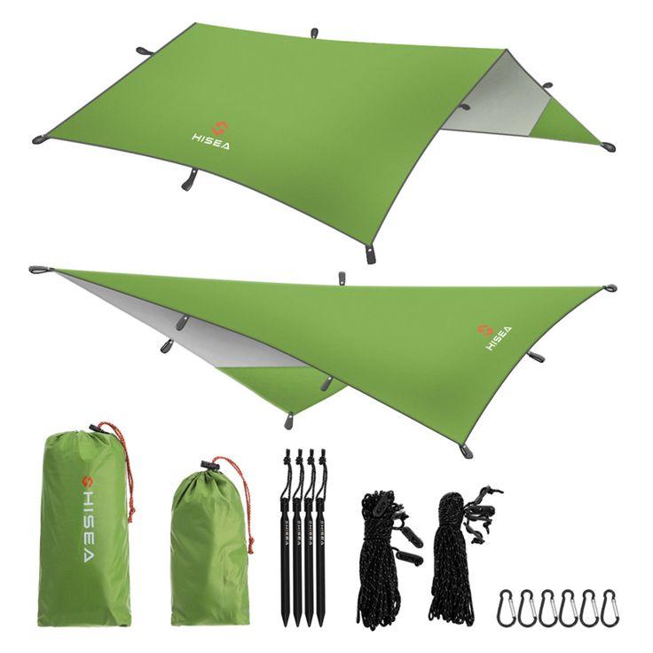 Compare Price Hisea Hammock Rain Fly Tent Tarp Shelter - Camping Shelter Rainfly Sun Shelters and Sunshade for Beach, Picnic #Hisea #Hammock #Rain #Tent #Tarp #Shelter #Camping #Rainfly #Shelters #Sunshade #Beach #Picnic