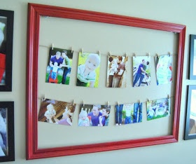 Maybe Matilda: Photo Gallery Wall and Clothesline Picture Frame