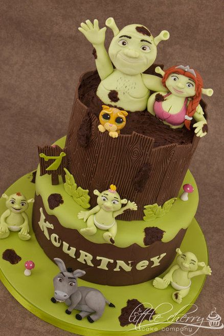 Shrek Cake. Learn how to create your own amazing cakes: www.mycakedecorating.co.za