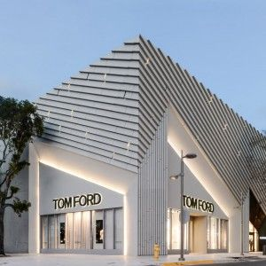 ArandaLasch creates pleated concrete facade for Tom Ford flagship Miami store