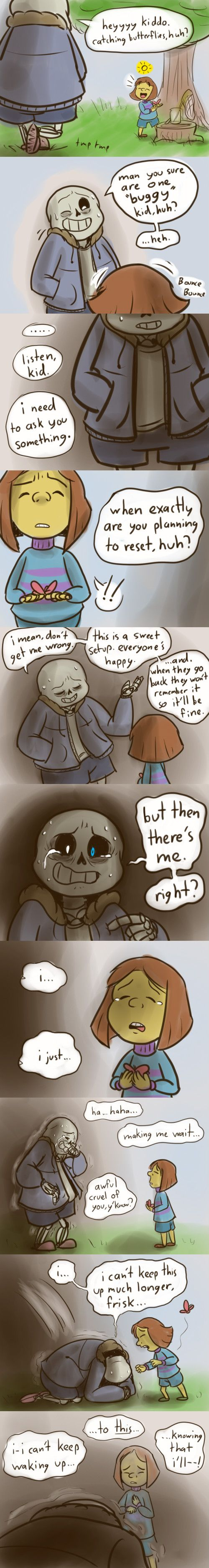 Reset - Sans and Frisk - comic (2/3) - http://nintendonut1.tumblr.com/post/132587878628/reset