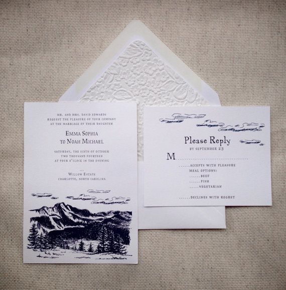 Outdoor Themed Wedding Invitations: Outdoor Wedding Invitation Suite