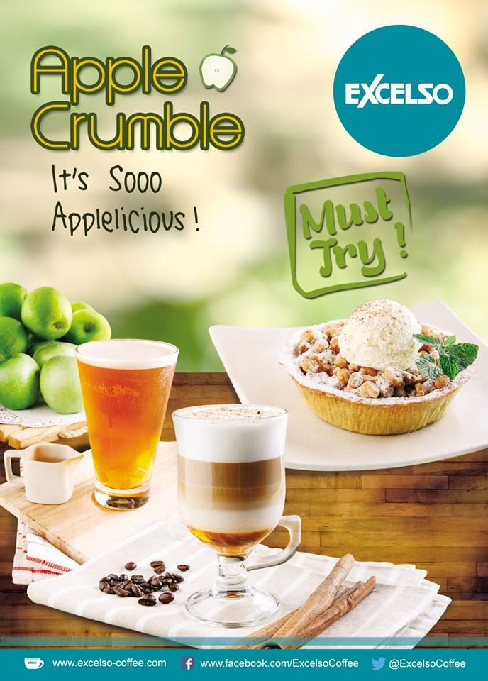 APPLE CRUMBLE #MenuOfTheMonth from Excelso Coffee It's so Applelicious!