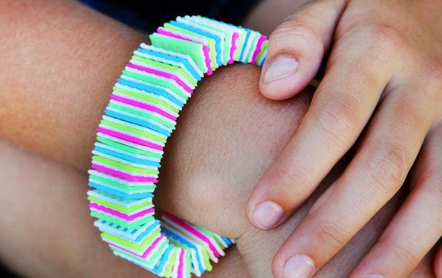 Gummi Armband selber machen Ideen Anleitung Design