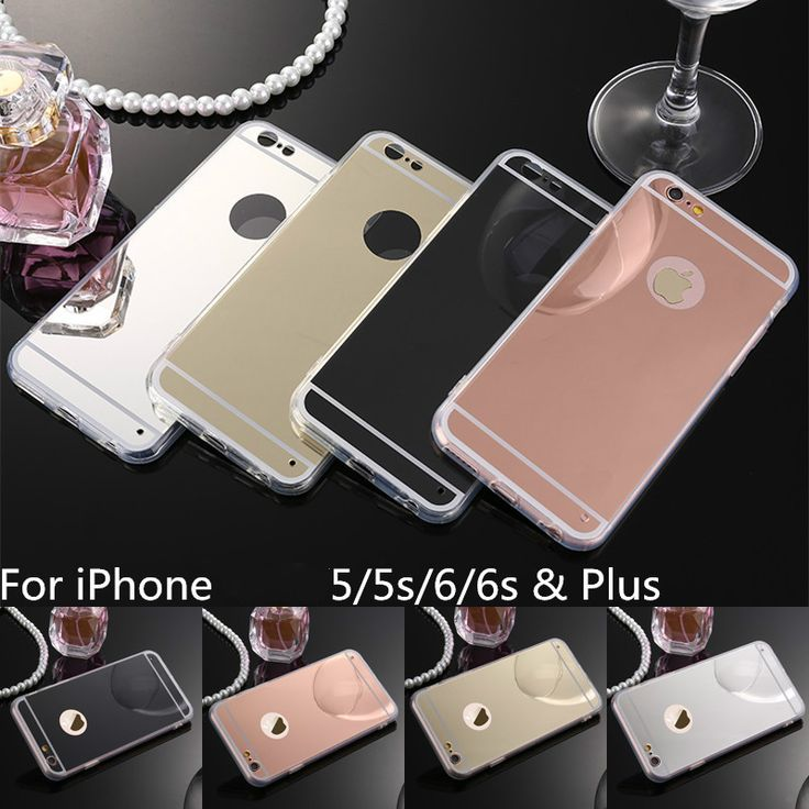 Mirror Electroplating Soft Clear TPU Case For iPhone aifon 6 6S 4.7 inch / 6 6S Plus 5SE 5S 5 SE Back Cover Phone Bags
