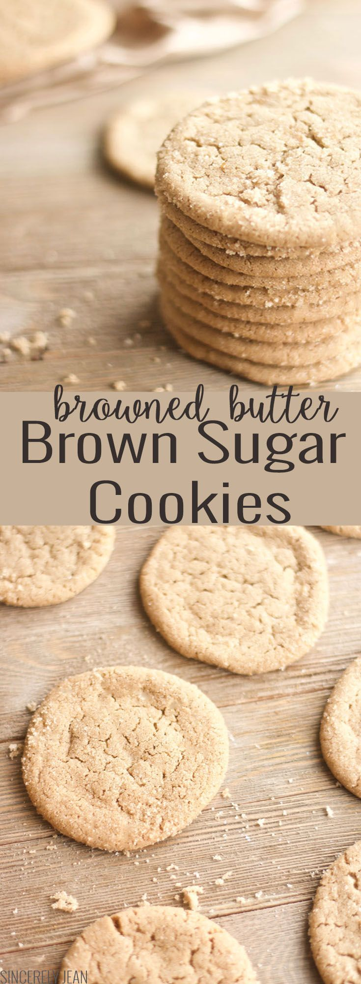 Brown Butter Brown Sugar Cookies - homemade, recipe, moist, easy, quick, chewy