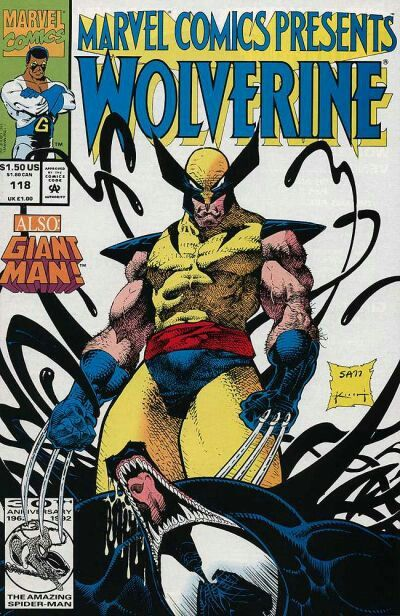 It's such a funny cover for me, because even with Wolverine's healing factor, I can't see him beating down Venom