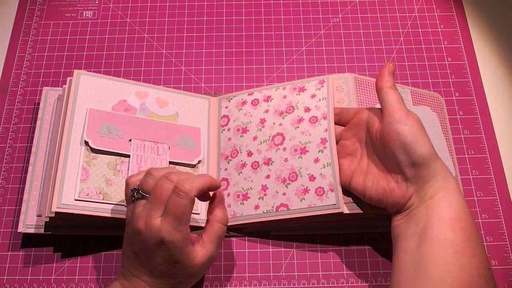 scrapbooking idea for baby mini album ♥
