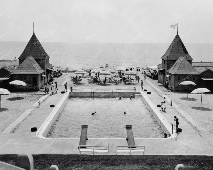Maidstone Club Pool Scene New York 1900s 8x10 Reprint Of Old Photo