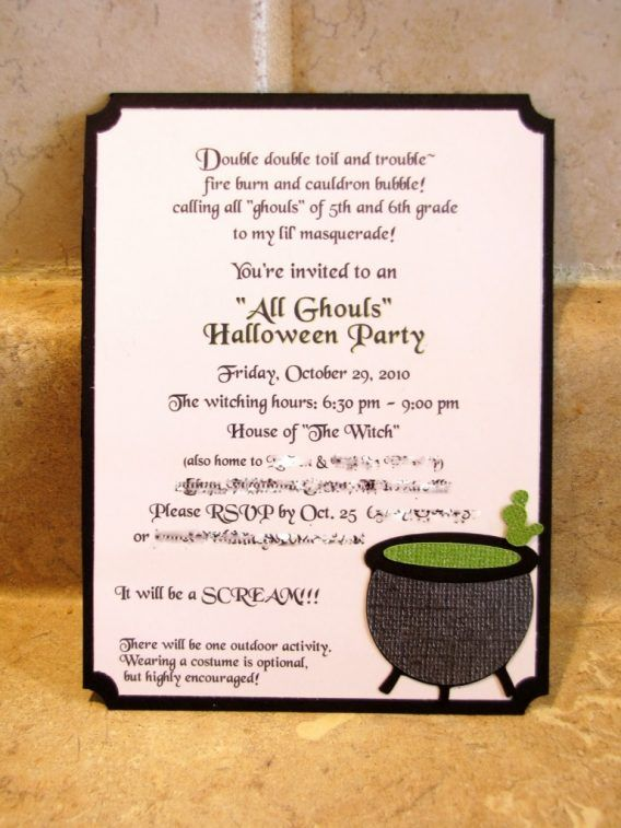 176 best Party Invitation images on Pinterest | Halloween parties ...