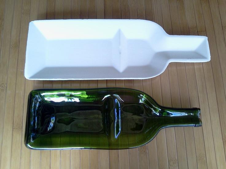 STONEWARE Snack-n-dip wine bottle slumping mold. $22.00, via Etsy.