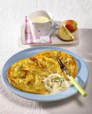 Apfel-Quark- Pfannkuchen