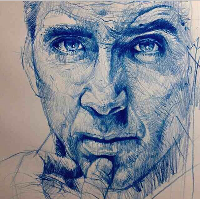 Nicholas Cage - Amazing pencil work by Alvin Chong