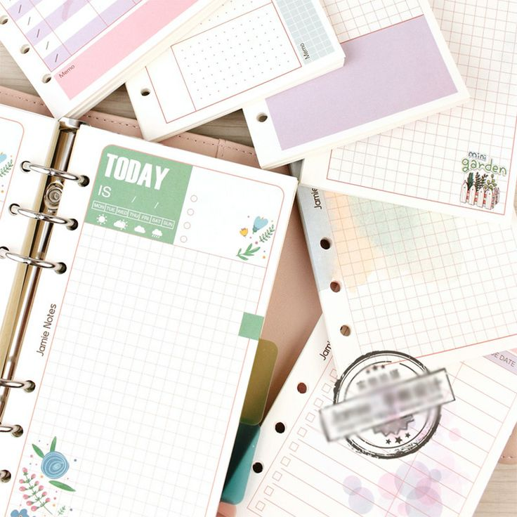 Aliexpress.com : Buy Cute Girly Series Notebook Papers A5&A6 Diary Color Clean Fresh Inner Core Planner Filler Paper Girls Gifts Creative Stationery from Reliable filler paper suppliers on NOTEBOOKS