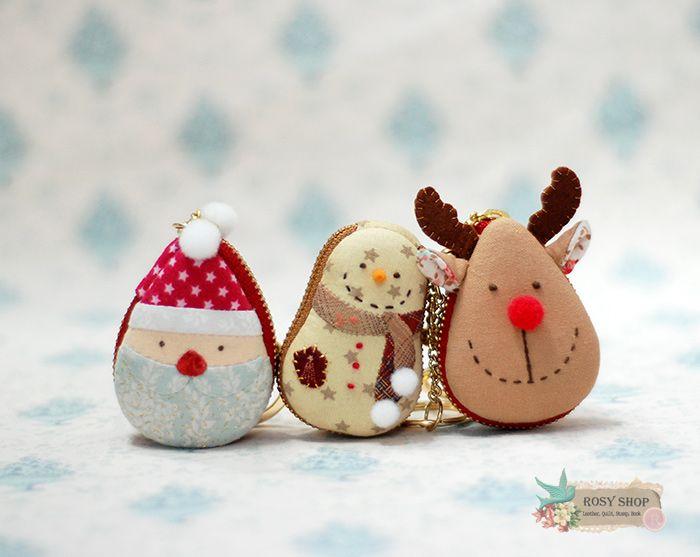 X-mas마카롱동전지갑 - 산타,눈사람,루돌프~ : 네이버 블로그