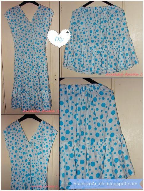 DIY....Sukienki...dzielone na dwa...refashion dress ...diy