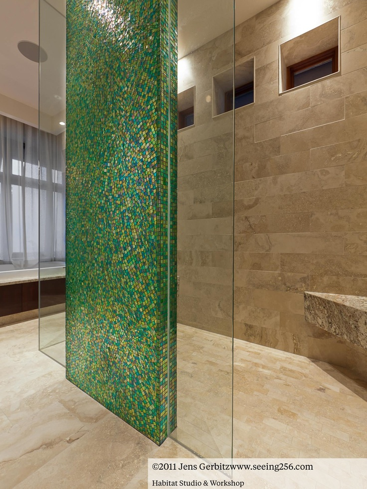 green mosaic bathroom tiles | My Web Value